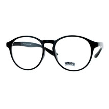 Clear Lens Eyeglasses Round Keyhole Fashion Glasses Frame UV 400 - $9.95