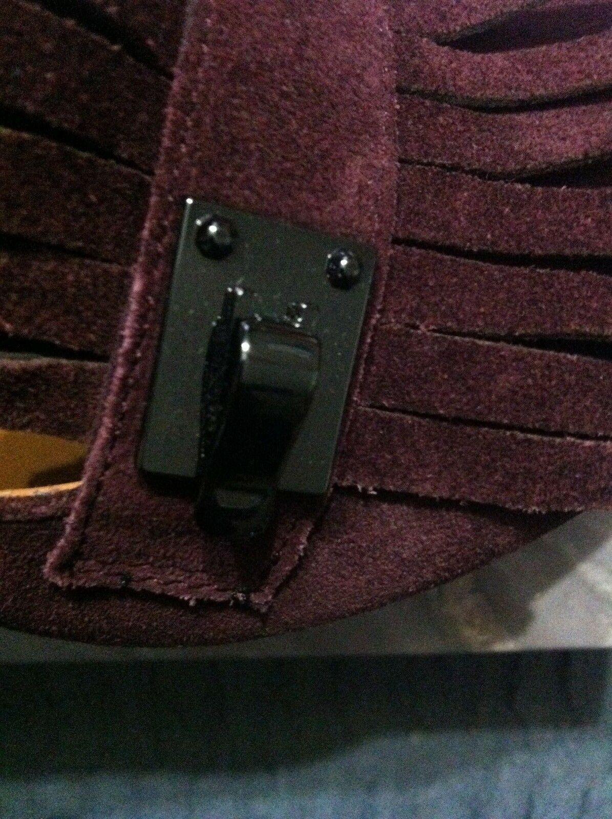 Franco Sarto Damen Neu Burgunder Leder/Wildleder Oberseite Anzug Schuhe Größe:6 image 5