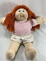 Vtg 1987 Coleco Cabbage Patch Kids Girl Doll Red Orange Hair Tooth w/Pink Outfit - $29.69