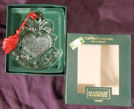 Marquis WATERFORD crystal Our First Christmas 2000 ornament w/box - $23.99