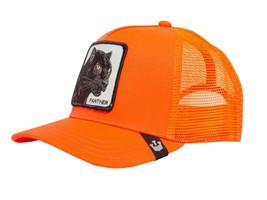 Goorin Bros Snapback Mesh Cap Animal Farm Orange Black Panther Trucker Hat image 1