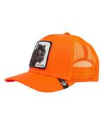 Goorin Bros Snapback Mesh Cap Animal Farm Orange Black Panther Trucker Hat - $34.64