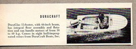 1960 Magazine Photo DuraCraft DuraGlas 15 Ft  Boats - $9.22