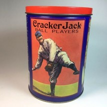 Old Vintage Advertising Ad Cracker Jack Popcorn Litho Tin Can 1992 Conta... - $19.79