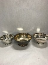 Lot of 3 Vintage  Silverplate dish Sheridan Tauton Oneida Bowls candy co... - $43.30
