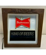 Budweiser Beer Lighted Motion Bar Sign King Of Beers Vintage ULTRA RARE ... - $222.22