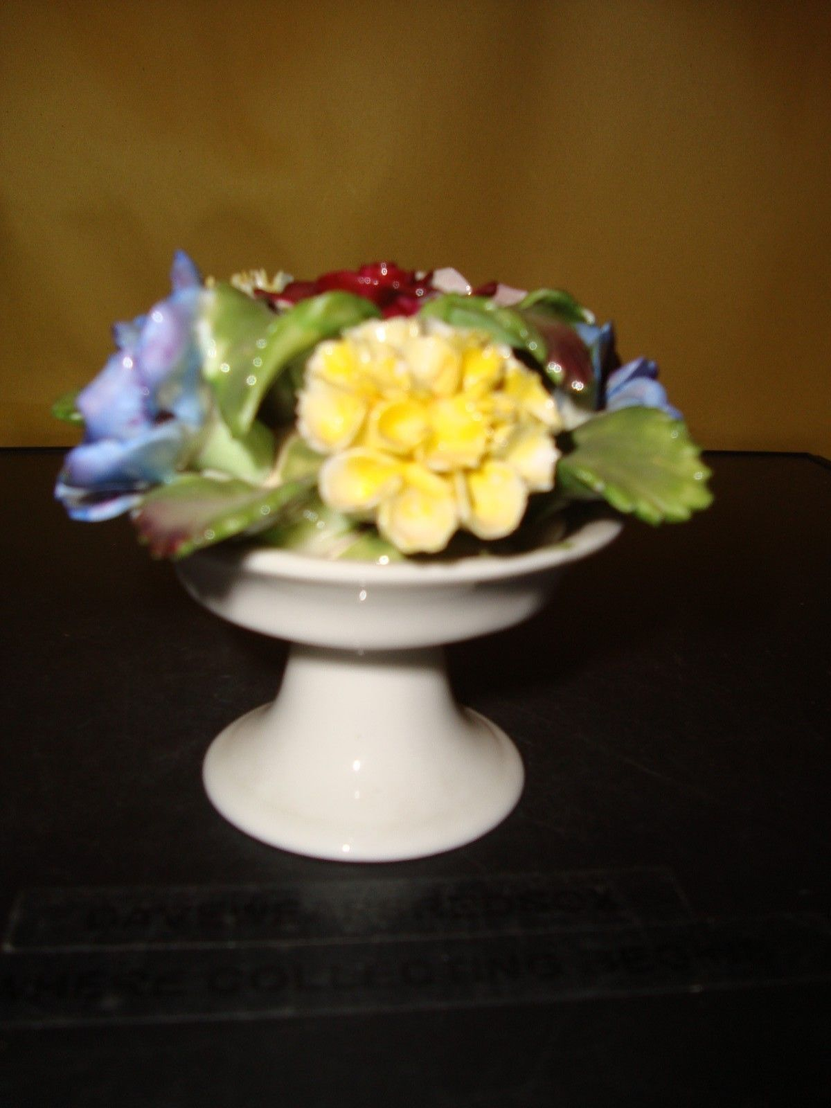Vintage AYNSLEY England Floral Arrangement Basket Fine China Near Mint Condition