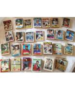 MLB Topps Baseball Cards 694 Total 1974-1989 All Teams A-Y Good-VG Condi... - £36.04 GBP