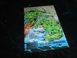 1995 DC Versus Marvel Fleer SkyBox Card #84 Killer Croc Vs. Abomination - $1.49