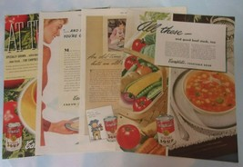 Vintage Lot 4 Color Advertisements CAMPBELLS' SOUP Sat Evening Post 1940... - $12.00