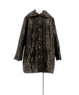 Dennis Basso Printed Water Resistant Quilted Coat Bronze Leopard L NEW A... - $81.16