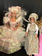 1982 Angel Face Barbie , 1998 Barbie Case, Barbie,1992 Birthday Party Ba... - $49.49