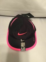 NEW! NIKE (Kids 4-6X) Featherlight Hat-Black/Vivid Pink - $44.43