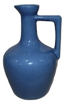 Blue Uhl Glazed Single Handle Pitcher jug Nice Shelf Decor - $18.95
