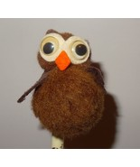 Vintage Owl cotton Ball Writing Pen Topper Finished Craft Project - $8.41