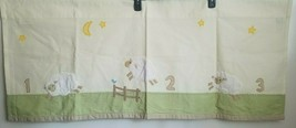 "Pottery Barn Kids Baby Infant Nursery Valance Curtain Counting Sheep 44""... - $12.60"