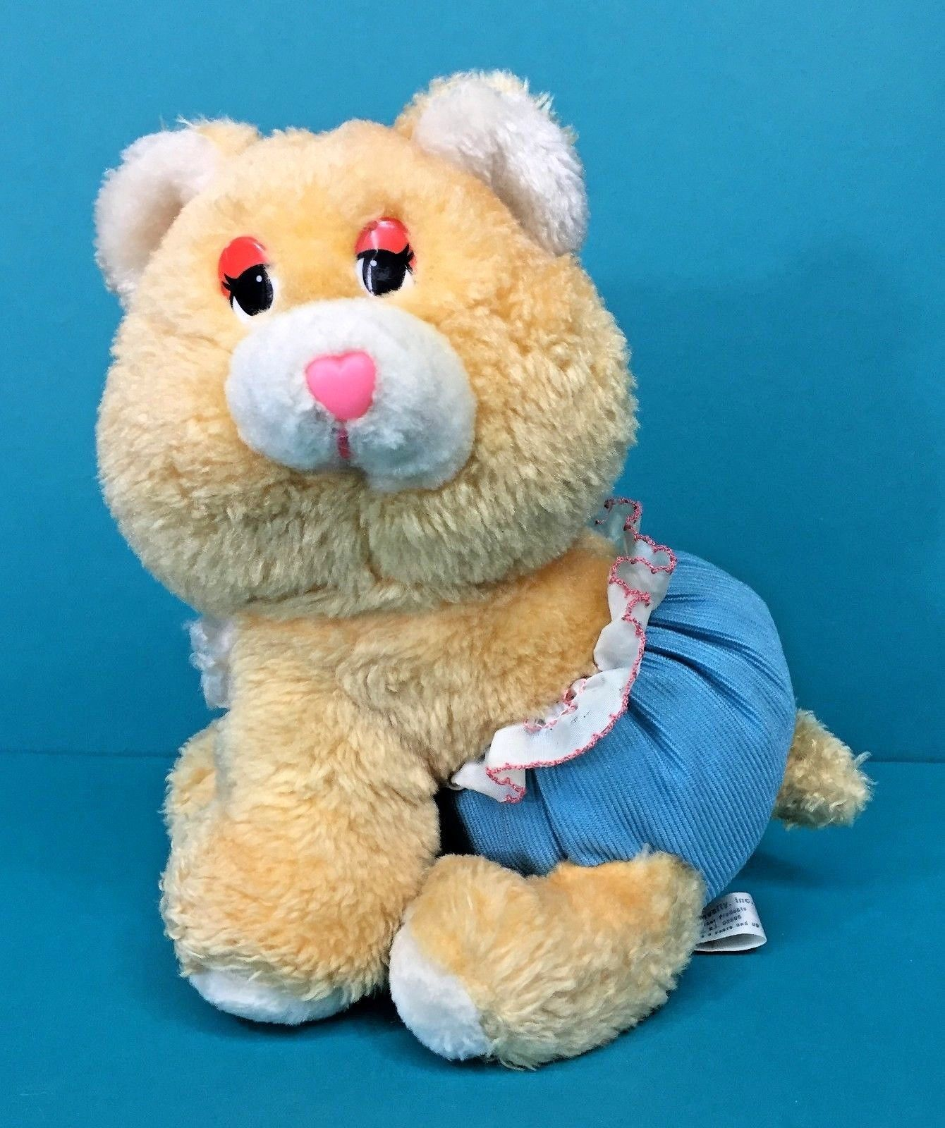 "Primary image for Gerber Atlanta Novelty Teddy Bear Peach Blue Diaper 9"" Plush Chime Lovey Vintage"