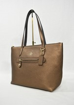 NWT Coach 23592 Mettalic Leather Taylor Tote in Bronze. Handbag/Shoulder... - $229.00