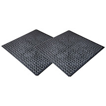 NEW Black PlastiPro-Loc Heavy Duty Perforated Garage Flooring Tiles Pack of 18 image 2