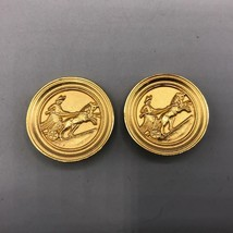 Vintage Gold Chariot Clip On Earrings - $28.70