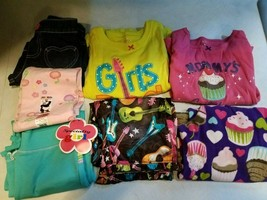 Lot of 7 Pieces Girls Clothing Size 5-Carter's Jumping Bean -PJ's, Pants... - $14.99