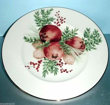"Lenox Boxwood & Pine Pomegranate 9"" Accent Luncheon Plate Williamsburg - $39.90"