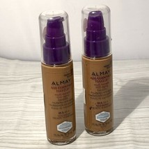 2 New Almay Age Essentials Hypoallergenic SPF15 Foundation 180 Medium Deep - $12.95
