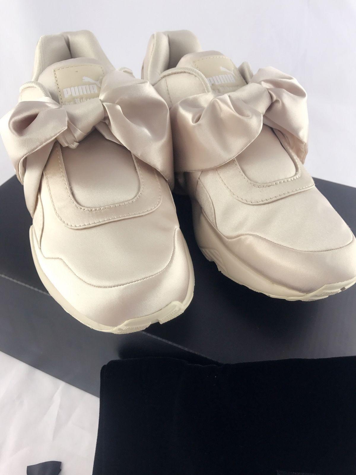 6b79b7633551 NIB Puma Fenty By Rihanna Women Bow Sneaker Pink Tint Beige Size 7.5