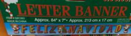 Regent Products Feliz Navidad Letter Banner 1 Piece #913939-1 UPC:721003... - $8.66