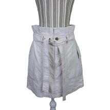 Free People Splendor In The Grass Tie Oatmeal Denim Skirt Size 10 NEW  - $39.55