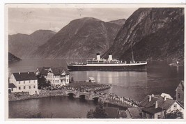 NORWAY NORGE HELLESYLT VINTAGE POSTCARD POSTMARKED 1934 - $6.12