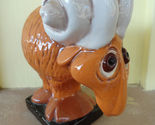 Whimsical Wide Eye Aries the Ram Ceramic Humorous Statue
