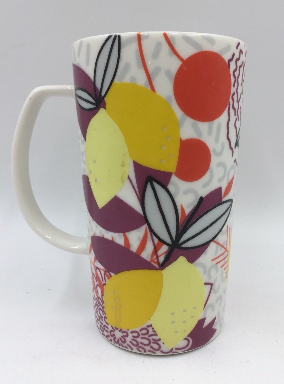STARBUCKS COFFEE Mug Cup 2015 Engraved, Floral and Graphic Designs 16oz