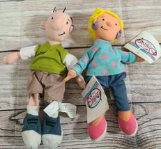 Disney Store Plush Doug & Patti Bean Bag Beanies Stuffed Dolls Retired Tags - $19.39