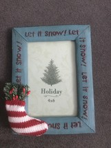 Holiday Let it snow! 4*6 foto frame new! - $9.99