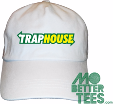 Trap House Dad Hat choose from black or white trap fresh - $14.99