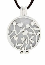 "Nature's Retreat Flowers & Hearts Aromatherapy Diffuser Necklace on 16"" ... - $19.32"