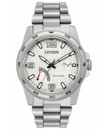 Citizen AW7031-54A Men's Eco Drive PRT Stainless Steel Power Reserve Watch - $225.71