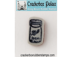 Crackerbox Palace Rubber Cling Glass Jar Stamp image 1