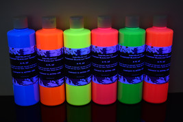 DirectGlow Blacklight Reactive Fluorescent Tempera Glow Party Paint 6 Pa... - $79.95
