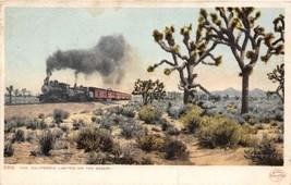 Railroad Train California Limited on the Desert 1907 postcard - $6.88