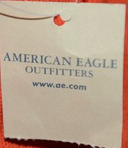 American Eagle Outfitters 7488 AE Everyday Tote Magnetic Closure Color Orange image 3