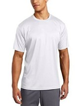 Small ASICS Circuit-7 Warm-Up Shirt Short Sleeve Tee T-Shirt White NEW
