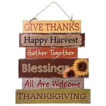 Harvest Welcome Sign Give Thanks Happy Harvest Blessings Gather approx. ... - $7.00