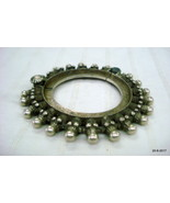 vintage antique collectible tribal old silver bangle bracelet gypsy jewelry - $494.01