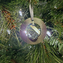 Medium Aluminum and Crystal Circle Ornament - Wavelet image 3
