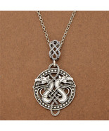 Viking Celtic Knots Dragon Odin Pendant Necklace Norse Nordic Jewelry Charm - $26.30