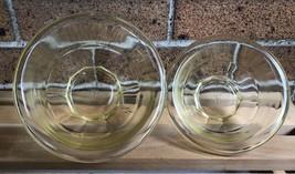 Vintage Anchor Hocking Mixing Serving Bowls Pale Yellow Set of 2 1qt 1.5qt  - $19.99