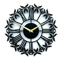 30cm New Modern Metal Wall Clock Open Face Roman Numerals Home Decor Cetus - $55.00