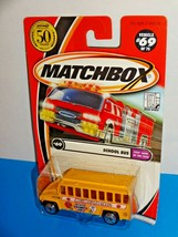 Matchbox 2002 Kids Cars Of The Year Series #69 School Bus Yellow w/ 50th Logo - $5.00